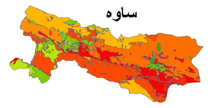 شیپ فایل کاربری اراضی شهرستان ساوه