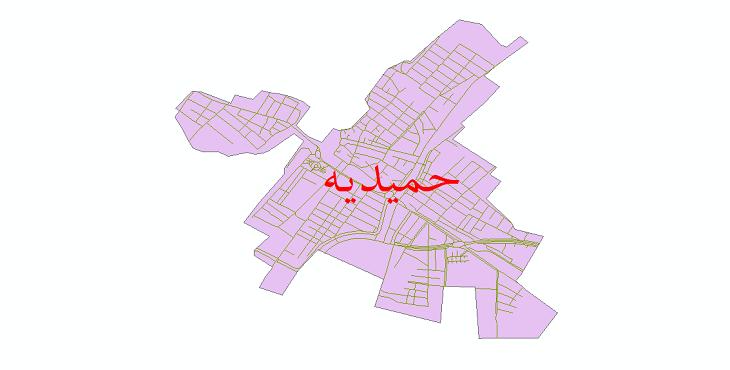 دانلود نقشه شیپ فایل شبکه معابر شهر حمیدیه سال 1399