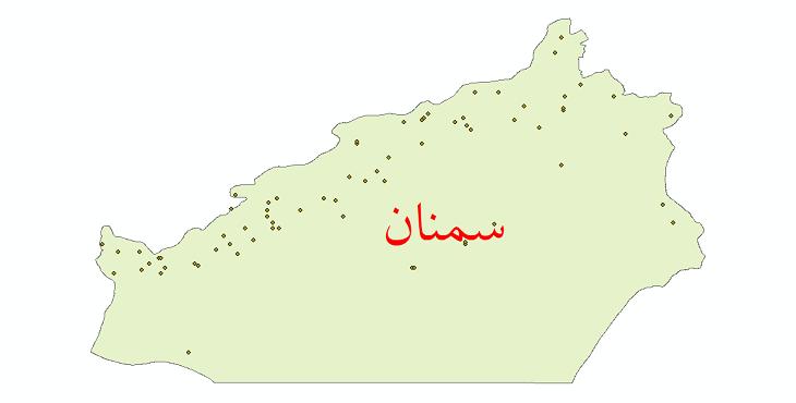 دانلود نقشه شیپ فایل ایستگاه های هواشناسی و نقاط باران سنجی استان سمنان