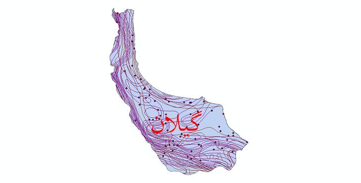دانلود نقشه شیپ فایل اقلیمی استان گیلان