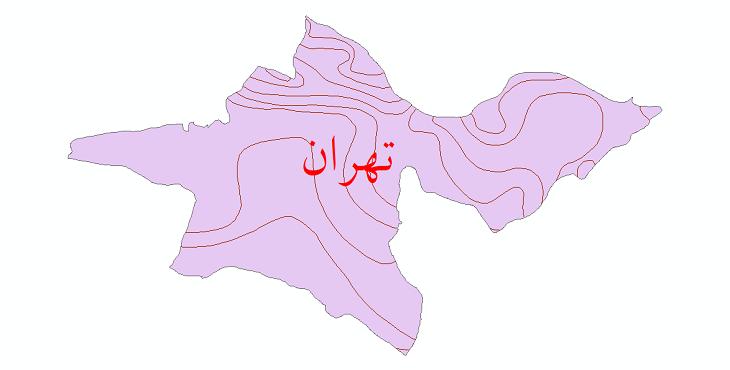 دانلود نقشه شیپ فایل خطوط هم تبخیر استان تهران