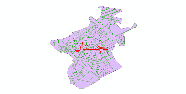 دانلود نقشه شیپ فایل شبکه معابر شهر بجستان سال 1399