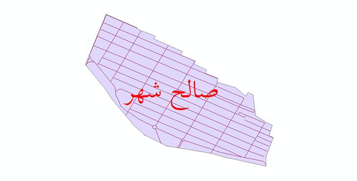 دانلود نقشه شیپ فایل شبکه معابر شهر صالح شهر سال 1399