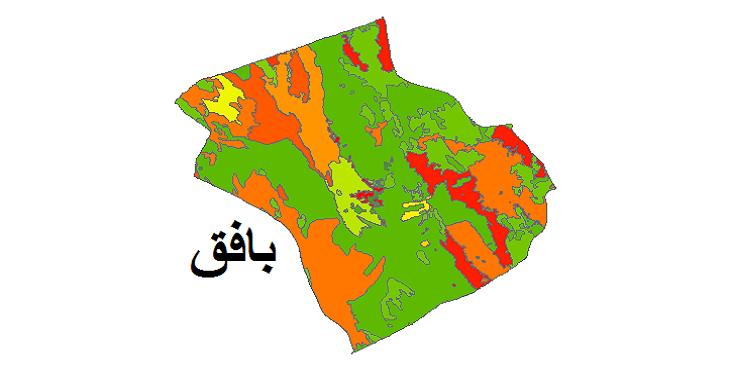 شیپ فایل کاربری اراضی شهرستان بافق