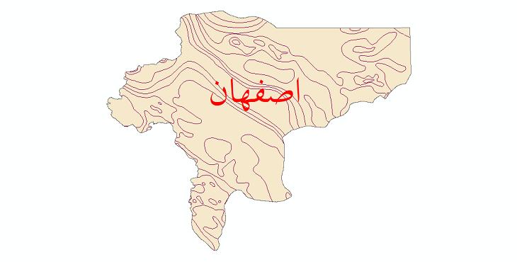 دانلود نقشه شیپ فایل خطوط هم تبخیر استان اصفهان