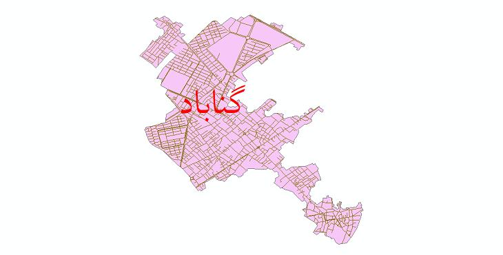 دانلود نقشه شیپ فایل شبکه معابر شهر گناباد سال 1399