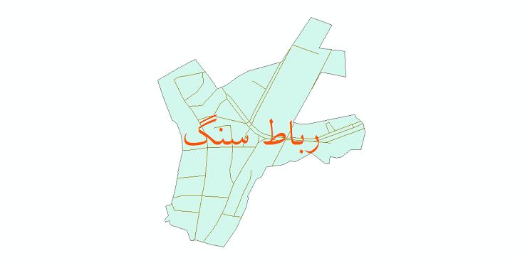 دانلود نقشه شیپ فایل شبکه معابر شهر رباط سنگ سال 1399