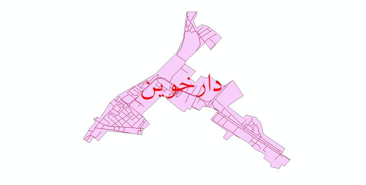 دانلود نقشه شیپ فایل شبکه معابر شهر دارخوین سال 1399