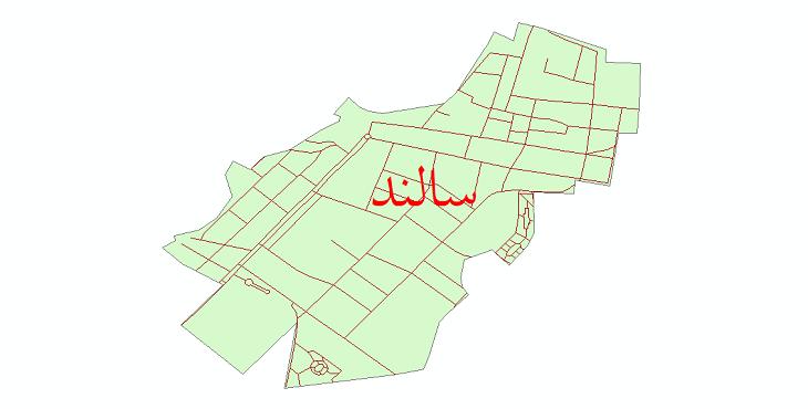 دانلود نقشه شیپ فایل شبکه معابر شهر سالند سال 1399