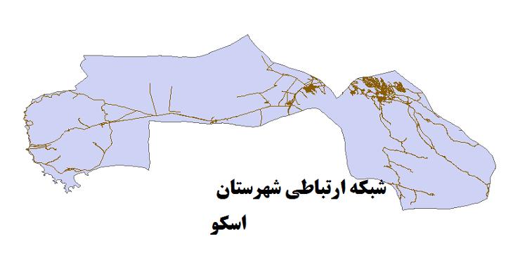 شیپ فایل شبکه راههای شهرستان اسکو 1399