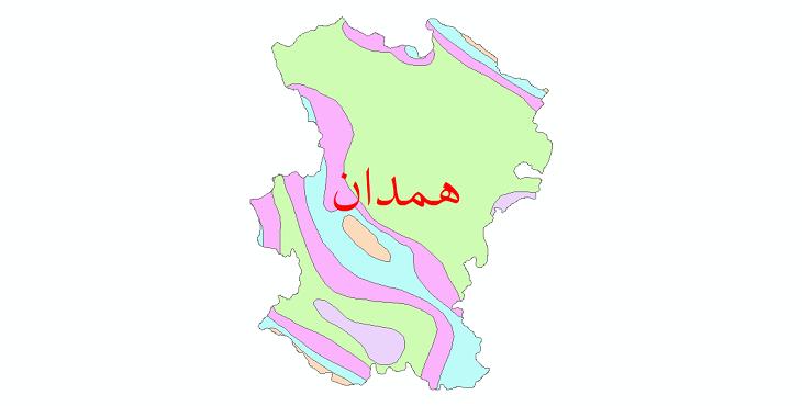 دانلود نقشه شیپ فایل طبقات اقلیمی استان همدان