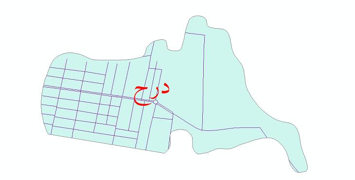 دانلود نقشه شیپ فایل شبکه معابر شهر درح سال 1399