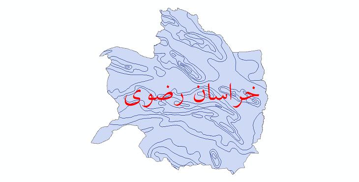 دانلود نقشه شیپ فایل خطوط هم تبخیر استان خراسان رضوی