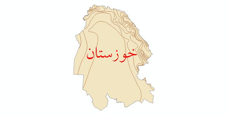 دانلود نقشه شیپ فایل خطوط هم دما استان خوزستان