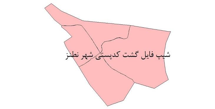 نقشه شیپ فایل گشت کدپستی شهر نطنز