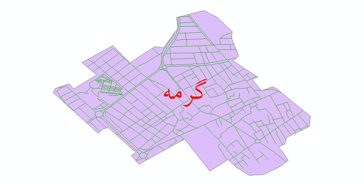 دانلود نقشه شیپ فایل شبکه معابر شهر گرمه سال 1399