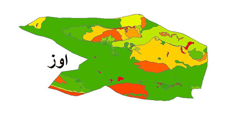شیپ فایل کاربری اراضی شهرستان اوز