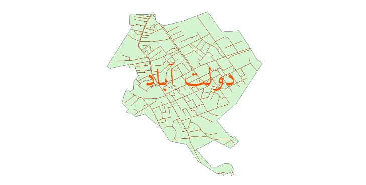 دانلود نقشه شیپ فایل شبکه معابر شهر دولت آباد سال 1399
