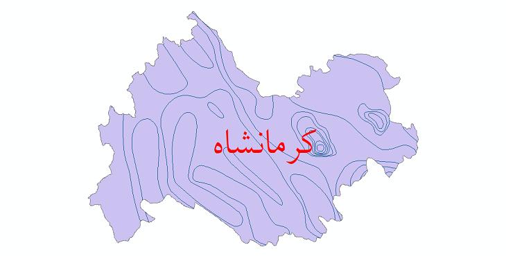 دانلود نقشه شیپ فایل خطوط هم تبخیر استان کرمانشاه