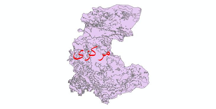 دانلود نقشه شیپ فایل کاربری اراضی استان مرکزی