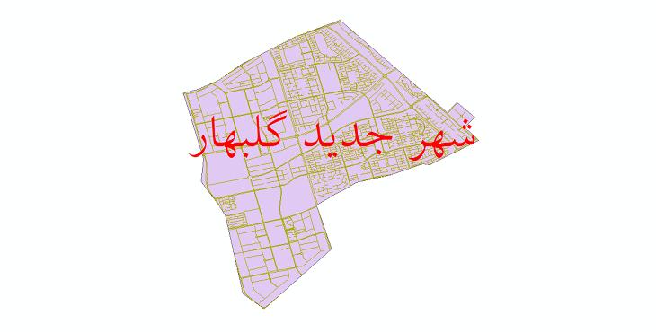دانلود نقشه شیپ فایل شبکه معابر شهر جدید گلبهار سال 1399