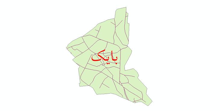 دانلود نقشه شیپ فایل شبکه معابر شهر بایک سال 1399
