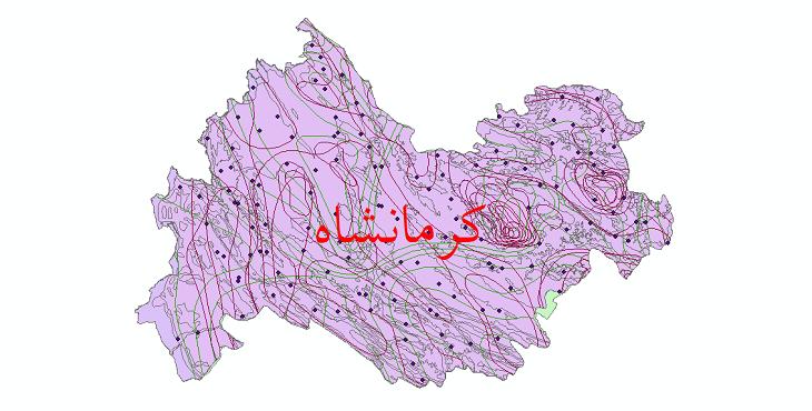 دانلود نقشه شیپ فایل اقلیمی استان کرمانشاه
