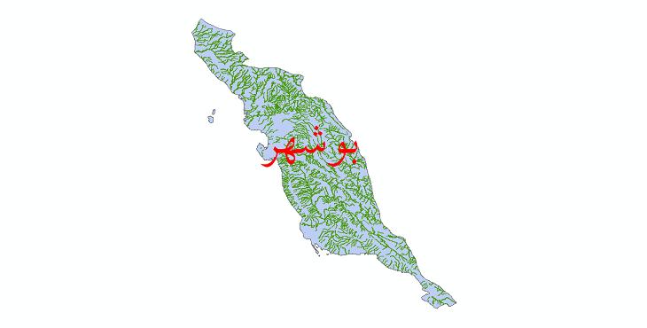 دانلود نقشه شیپ فایل رودخانه های استان بوشهر