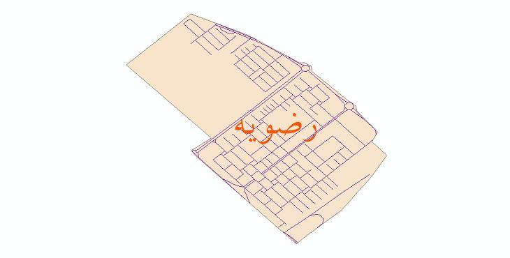 دانلود نقشه شیپ فایل شبکه معابر شهر رضویه سال 1399