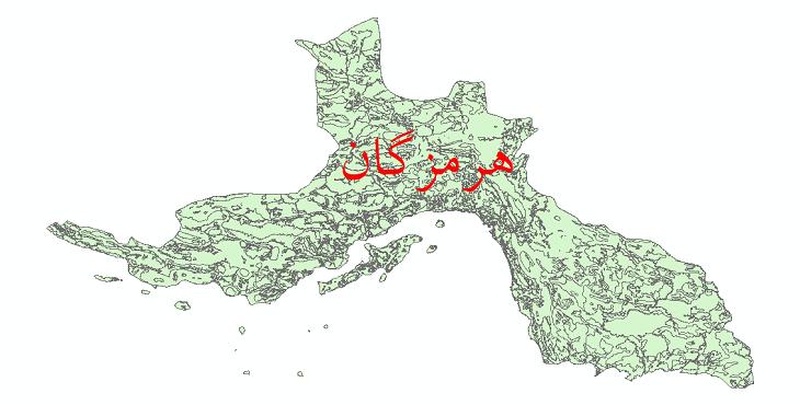 دانلود نقشه شیپ فایل کاربری اراضی استان هرمزگان