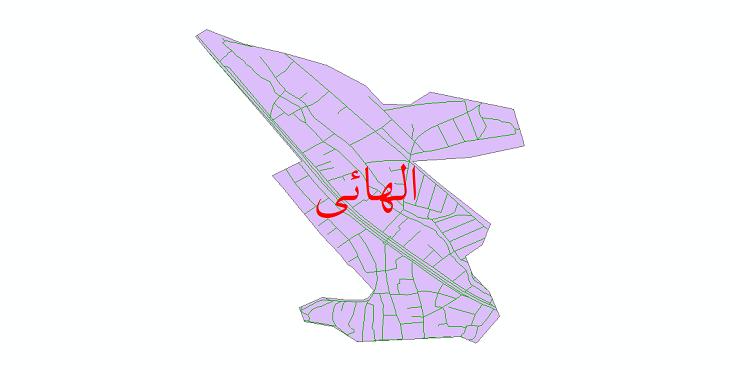 دانلود نقشه شیپ فایل شبکه معابر شهر الهائی سال 1399