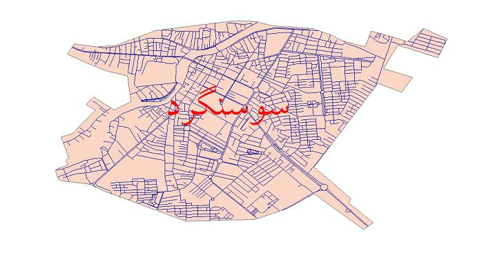 دانلود نقشه شیپ فایل شبکه معابر شهر سوسنگرد سال 1399