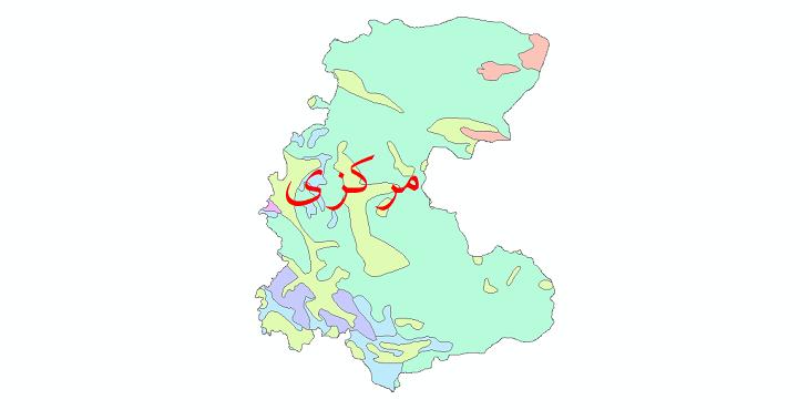 دانلود نقشه شیپ فایل پوشش گیاهی استان مرکزی