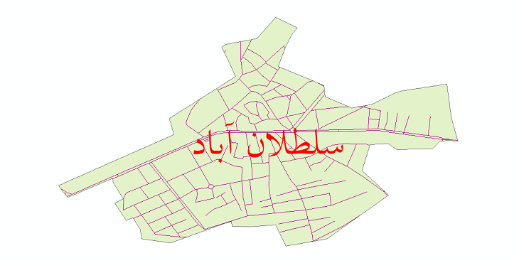 دانلود نقشه شیپ فایل شبکه معابر شهر سلطان آباد سال 1399