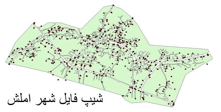 دانلود شیپ فایل بلوک آماری شهر املش سال ۱۳۸۵
