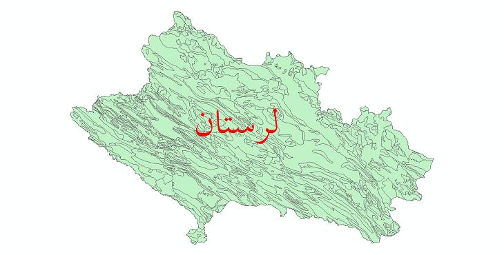 دانلود نقشه شیپ فایل زمینشناسی استان لرستان