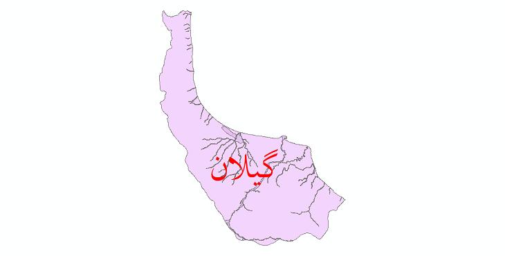 دانلود نقشه شیپ فایل پهنه های سیلاب استان گیلان