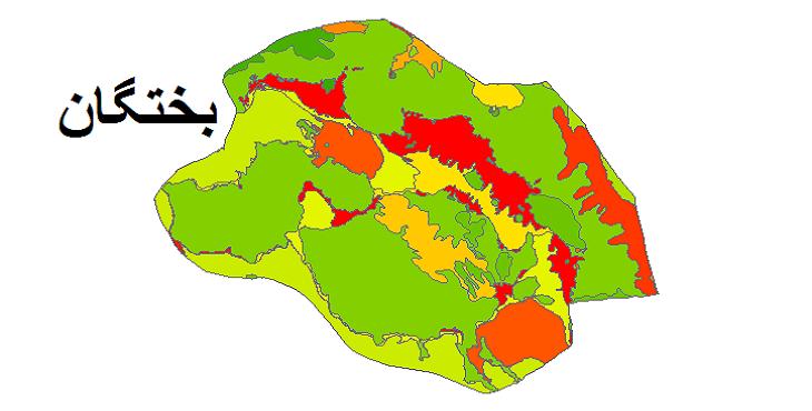 شیپ فایل کاربری اراضی شهرستان بختگان