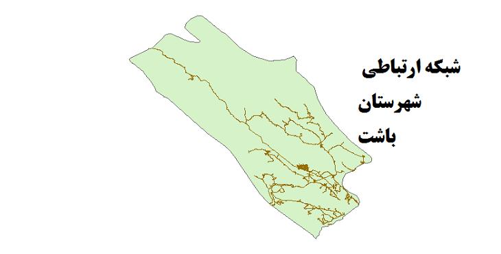شیپ فایل شبکه راههای شهرستان باشت 1399