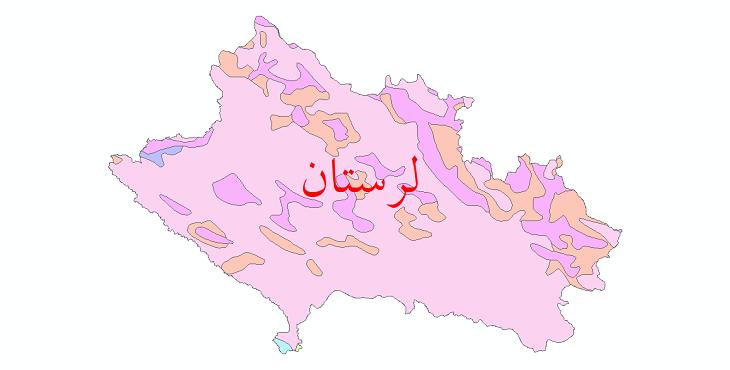 دانلود نقشه شیپ فایل پوشش گیاهی استان لرستان