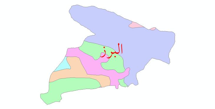 دانلود نقشه شیپ فایل پوشش گیاهی استان البرز