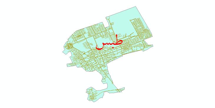 دانلود نقشه شیپ فایل شبکه معابر شهر طبس سال 1399