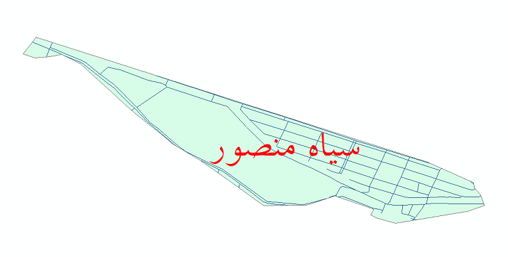 دانلود نقشه شیپ فایل شبکه معابر شهر سیاه منصور سال 1399
