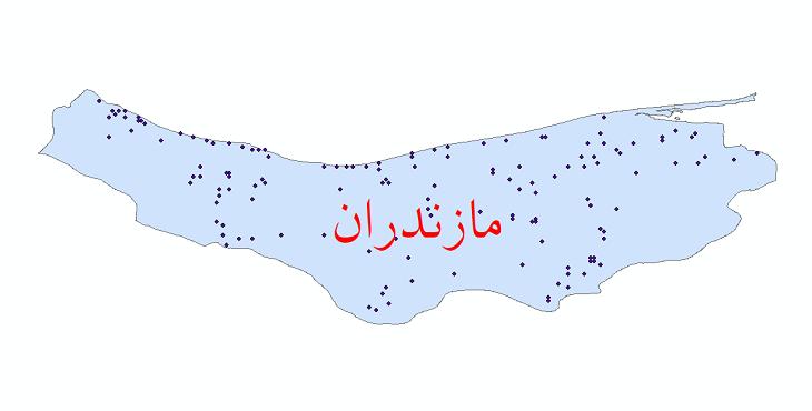 دانلود نقشه شیپ فایل ایستگاه های هواشناسی و نقاط باران سنجی استان مازندران
