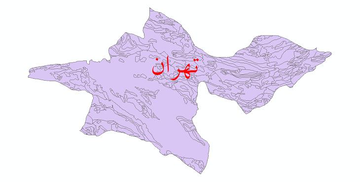 دانلود نقشه شیپ فایل زمینشناسی استان تهران