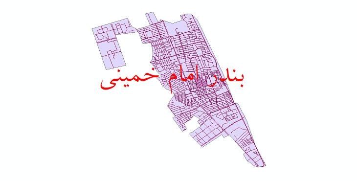 دانلود نقشه شیپ فایل شبکه معابر شهر بندر امام خمینی سال 1399