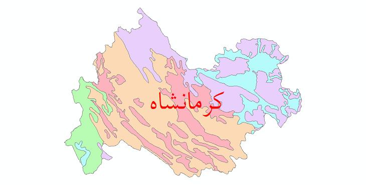 دانلود نقشه شیپ فایل خاک استان کرمانشاه
