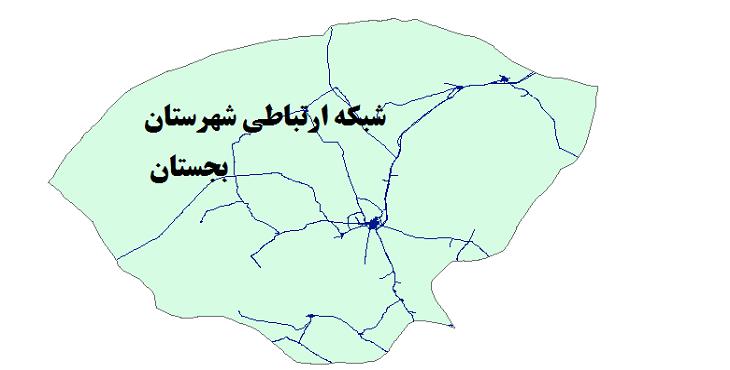 شیپ فایل شبکه راههای شهرستان بجستان 1399
