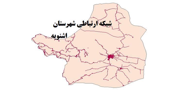 شیپ فایل شبکه راههای شهرستان اشنویه 1399