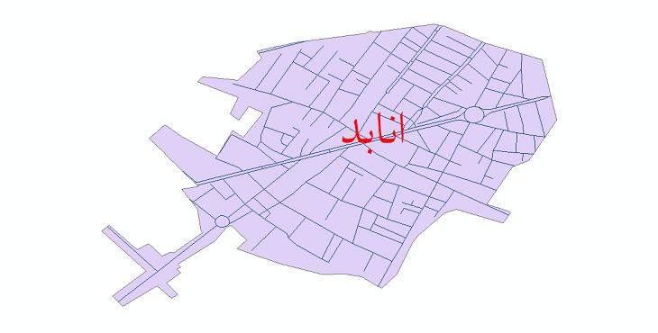 دانلود نقشه شیپ فایل شبکه معابر شهر انابد سال 1399